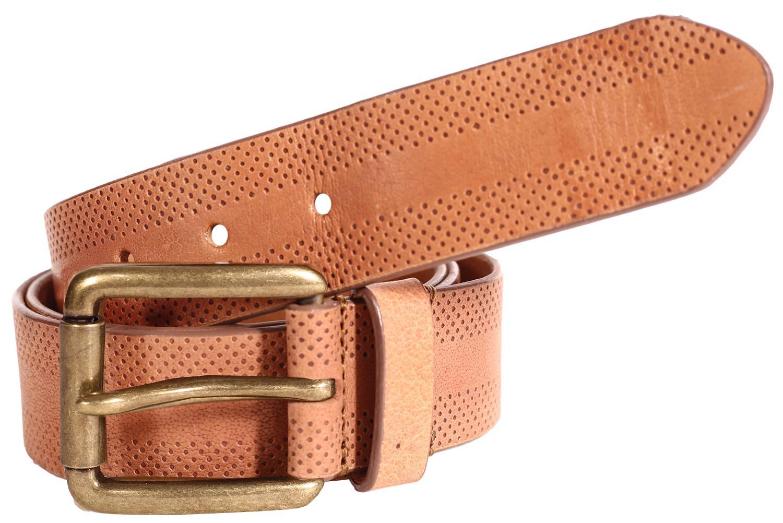 Nuevo Para hombres Cuero Genuino Cinturones Hebilla De Pin