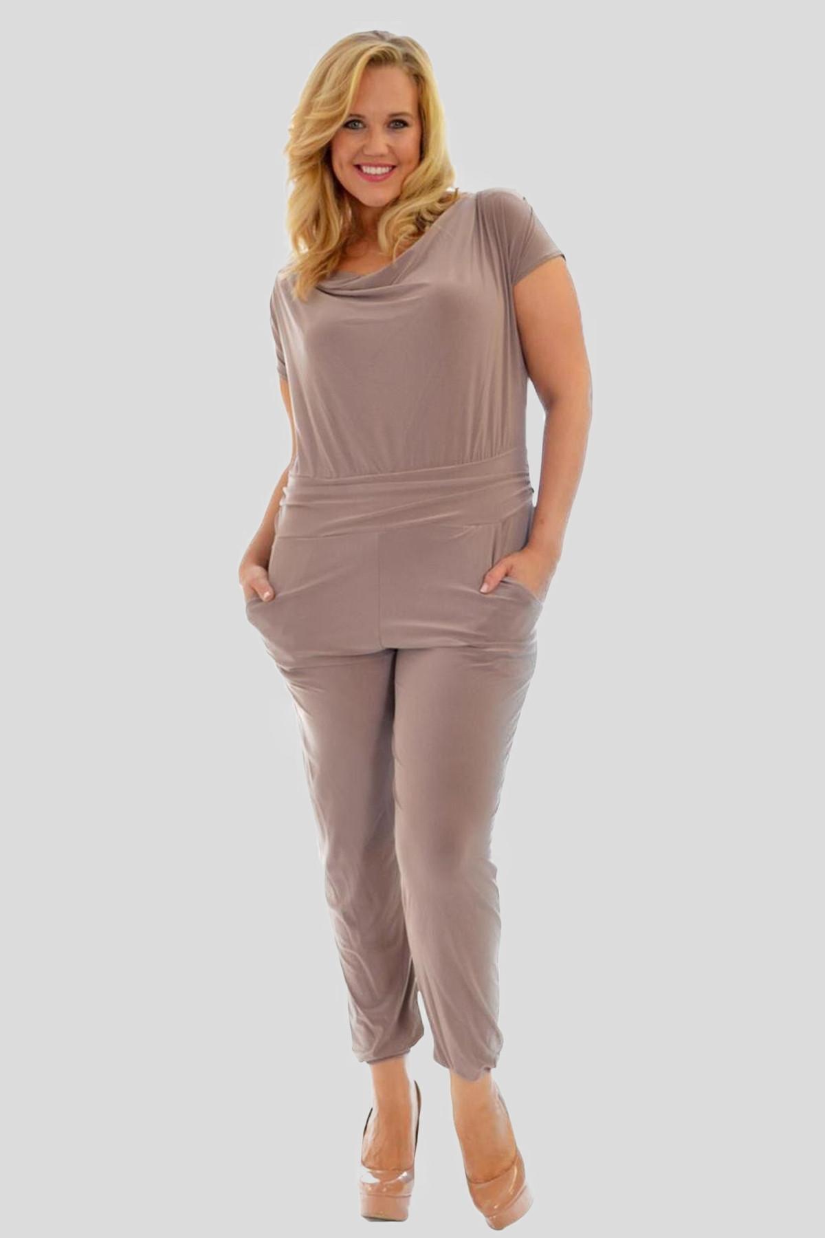 9f163f553dd0 Anna Plus Size Cowl Neck Jumpsuit Party Dress 16-28 - Plus Size ...