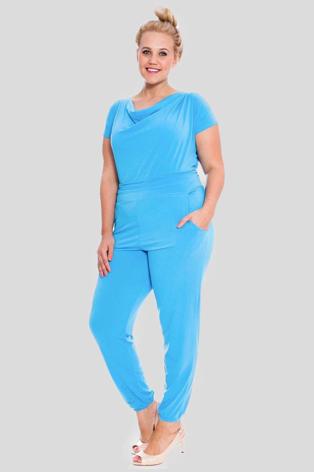 75f0ae02c67e Anna Plus Size Cowl Neck Jumpsuit Party Dress 16-28. Sale
