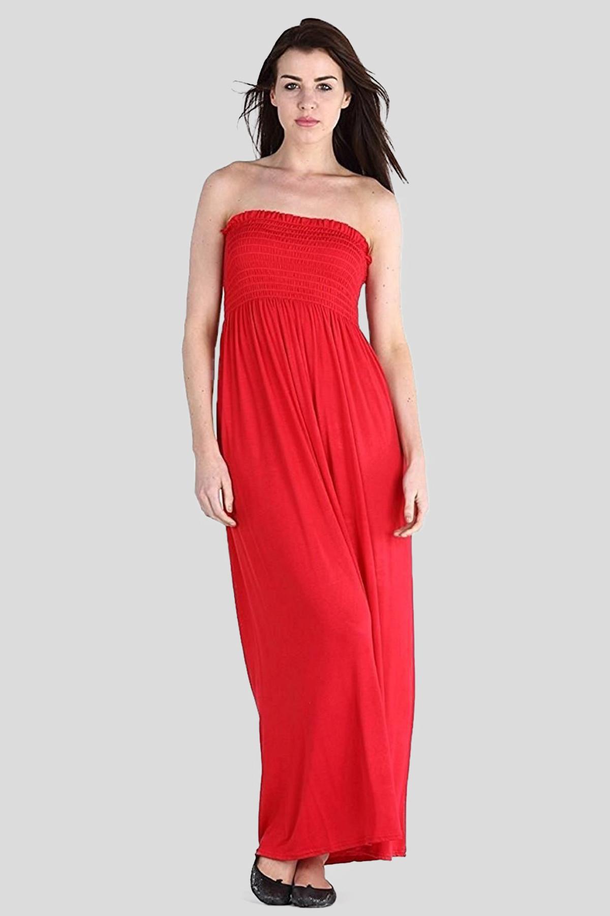 35d7f98b96 THALIA Strapless Sheering Boob Tube Maxi Dress 8-14 - Maxi Dresses ...