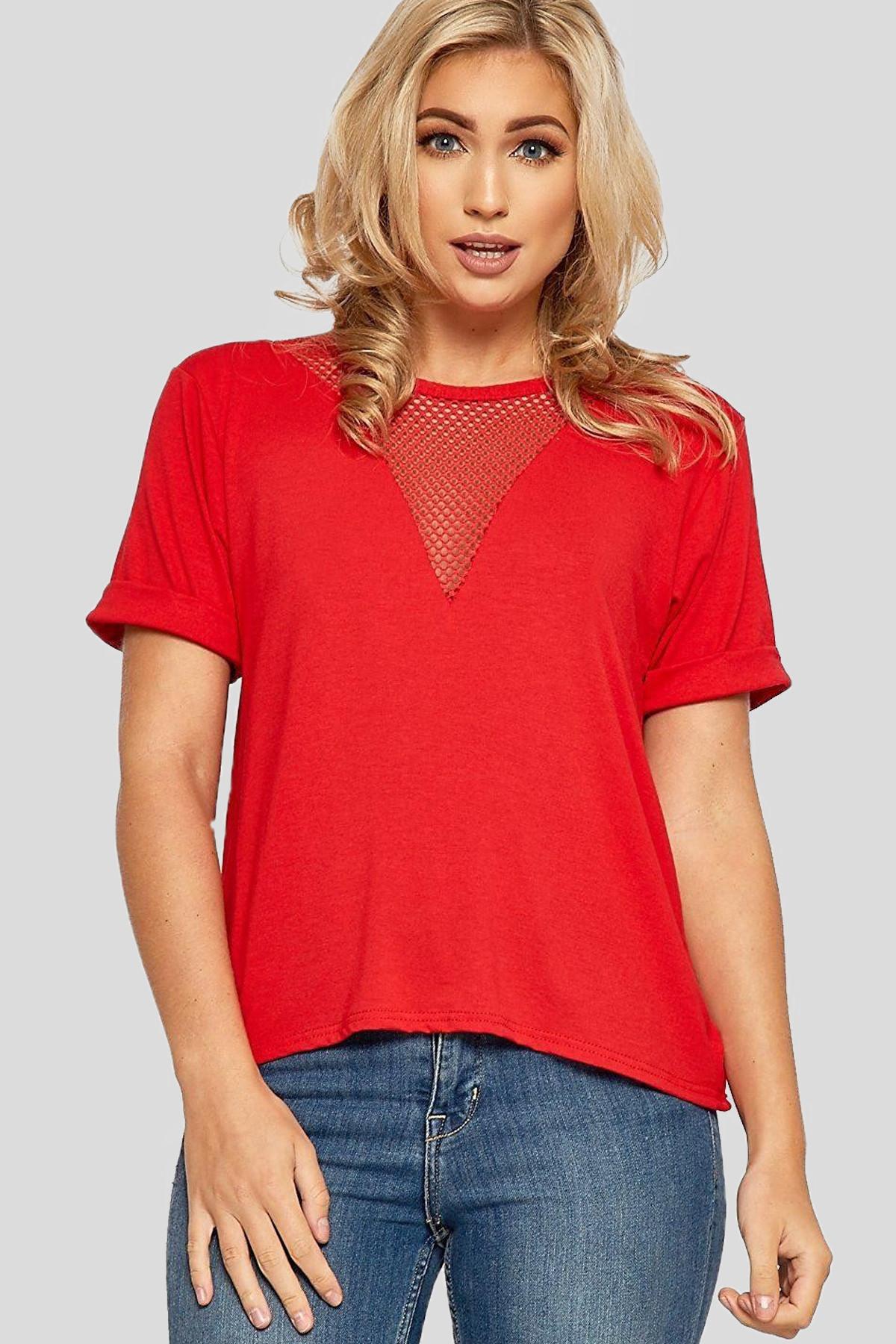 a4875737 Zara Plain Fishnet T-Shirt Tops 8-14 - Tops - Clothing