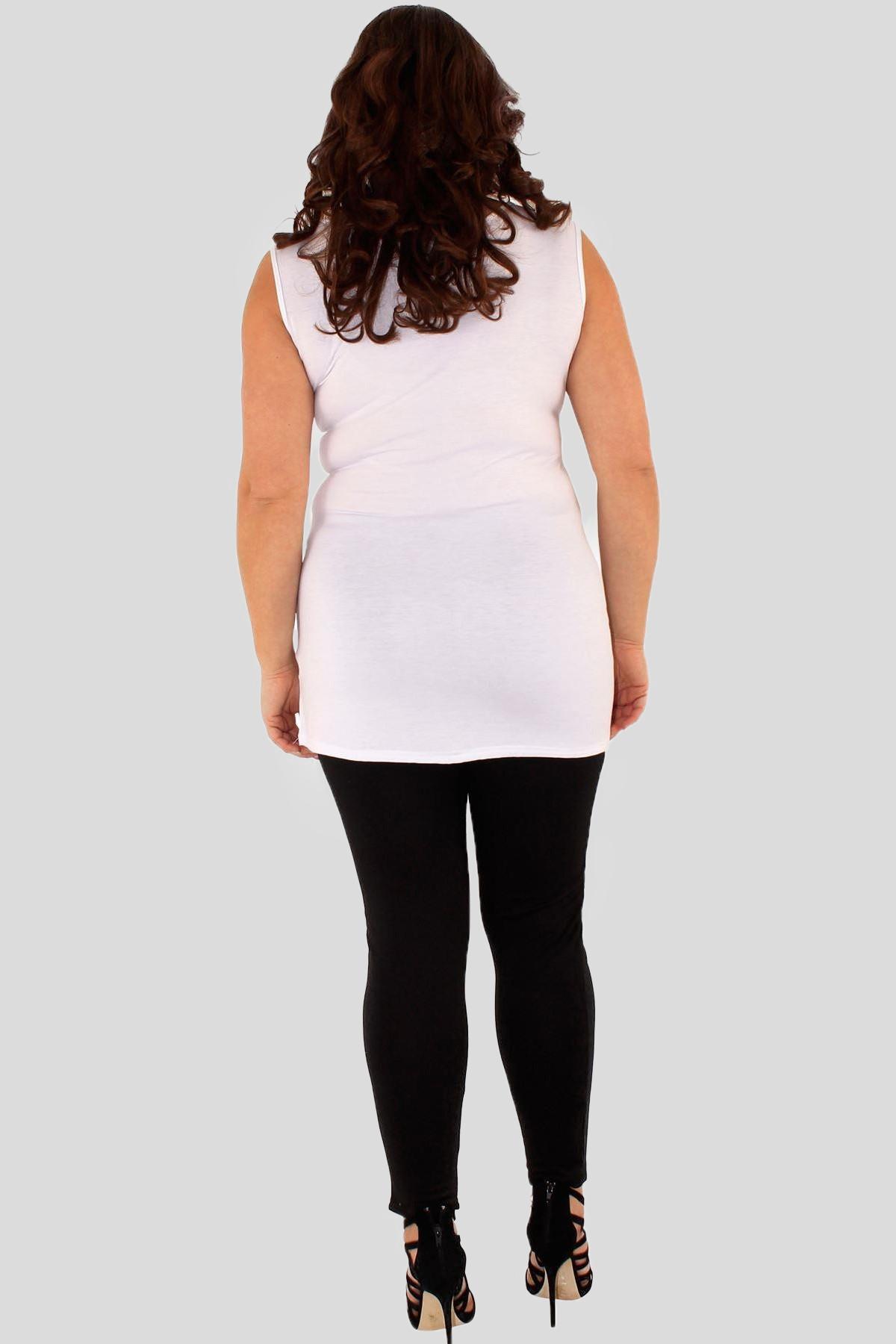 3b77b5f6ec361 Hannah Plus Size Milk Shake Sequin Vest Top 16-26. Sale
