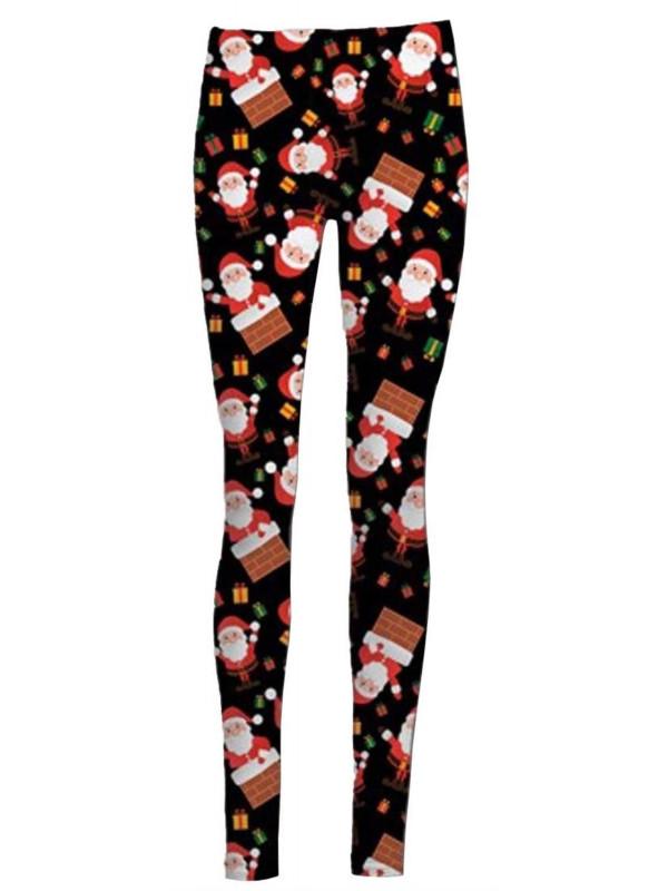 Leah Santa On Wall Xmas Leggings 8-34