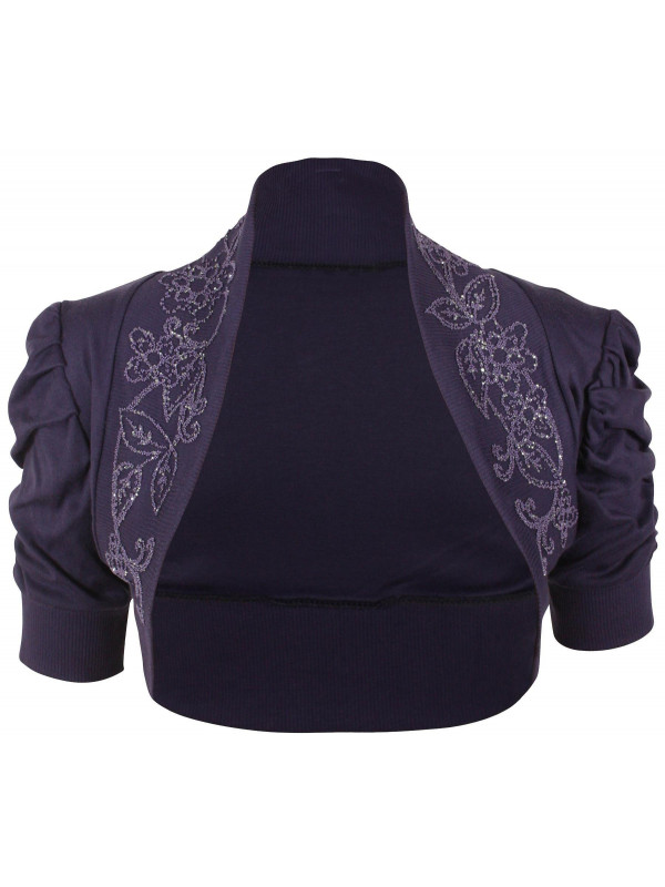 4161c5bfe279 Ruby Plus Size Sequins Ruched Short Cardigan Shrug 16-26