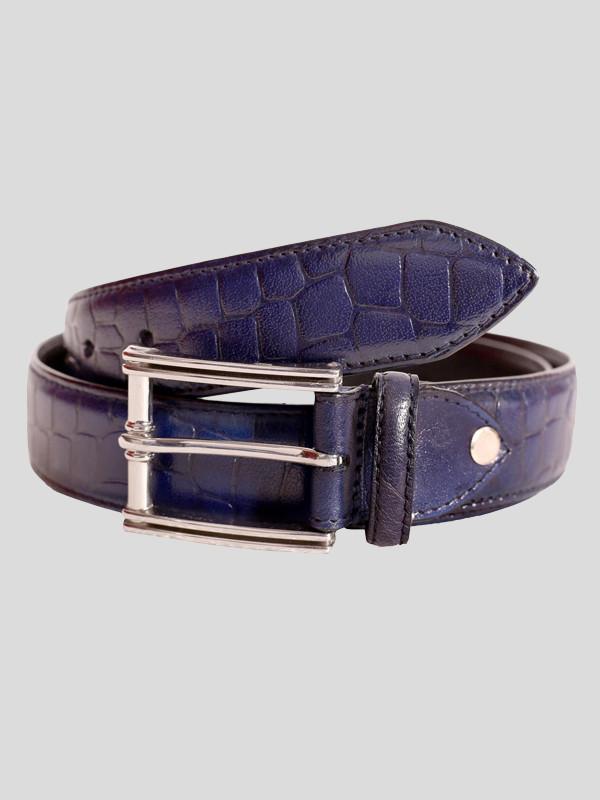 Abbott Mens Crocodile Stitched Genuine leather Belts S-3XL