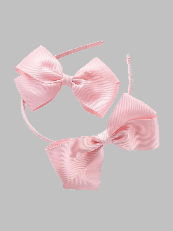 Alayah 2 piece Plain Bow Headband Bow Hair Clip