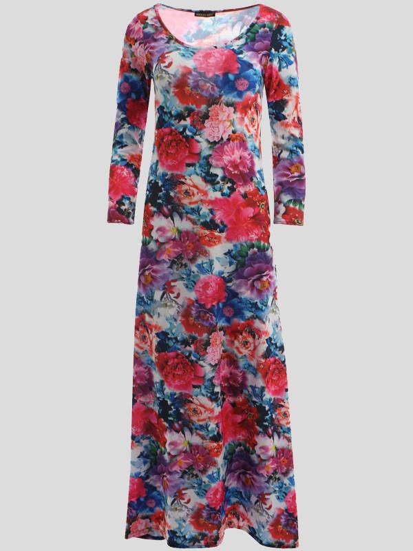 Alexandra Cerise Floral Scoop Dress 8-14