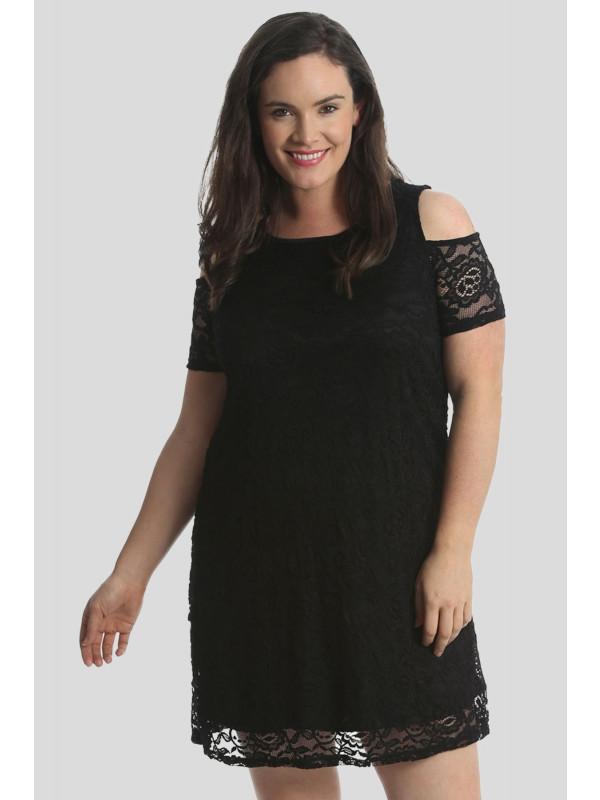 20d67a69bbe4 Alma Plus Size Off Shoulder Cut Out Sleeve Party Dress 16-28