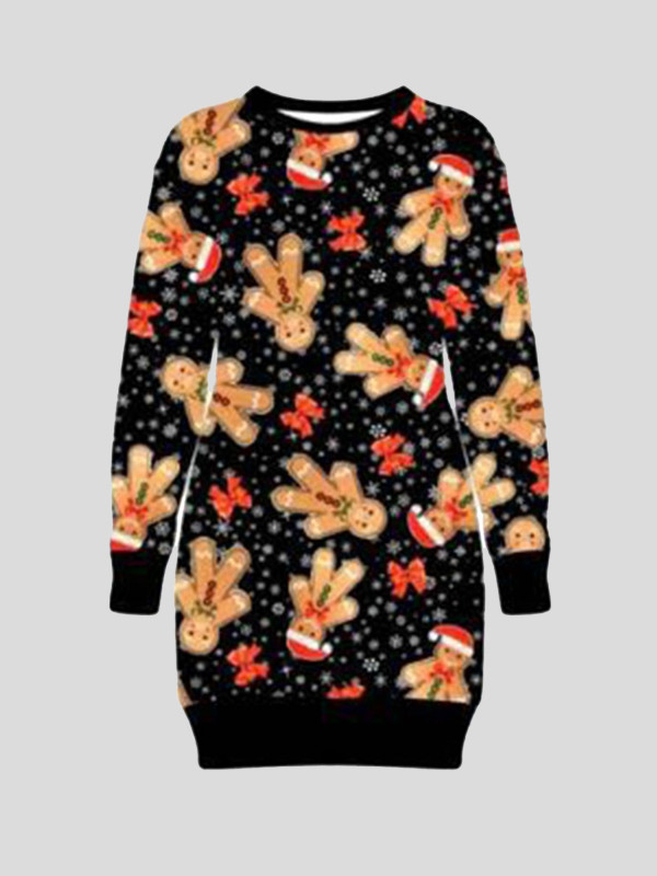 Poppie Plus Size Ginger Hat Printed Xmas Jumper 16-22