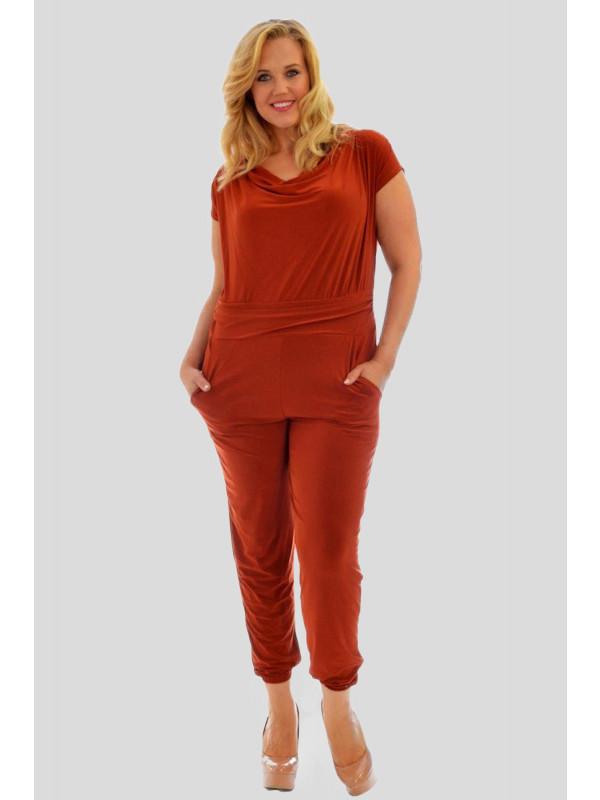 Anna Plus Size Cowl Neck Jumpsuit Party Dress 16-28