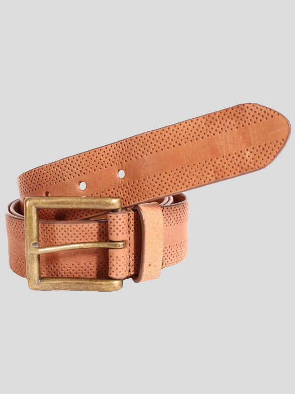 Arthur Mens Brown Border Design Genuine leather Belts S-3XL
