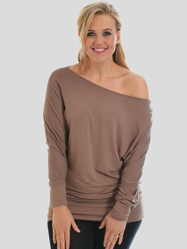 Awiti Plus Size Boat Neck Off Shoulder 16-34
