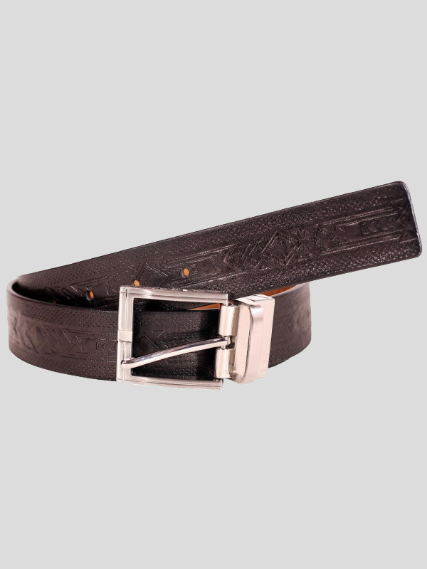 Baldwin Mens Textured Buckle Genuine leather Belts S-3XL