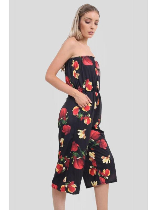 Camilla Plus Size Bardot Black Jumpsuit 16-26