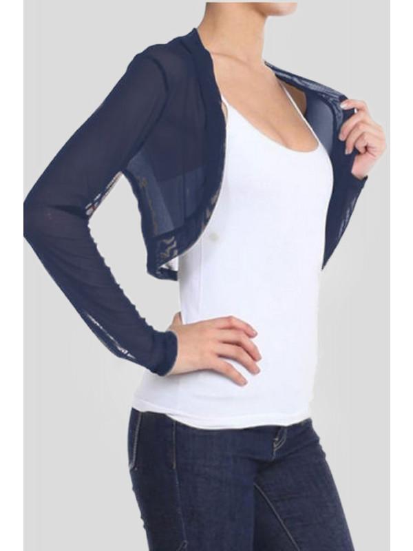 Caroline Plus Size Mesh Shrug Full Sleeve 16-22