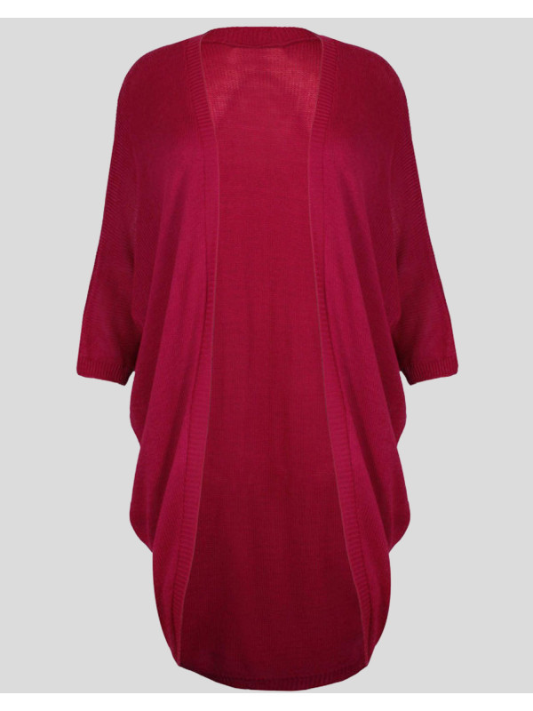 Aria ¾ Plus size Kimono Batwing Long Knitted Cardigans 16-26