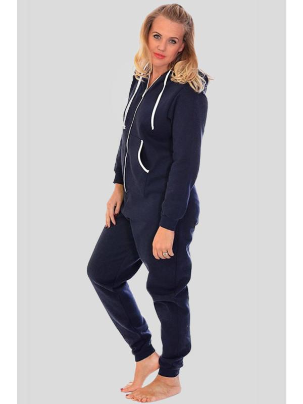 Demi Plus Size Plain Hooded OneSie Jumpsuit L-2XL