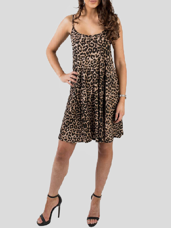 Elisha Leopard Print Swing Dress 8-14