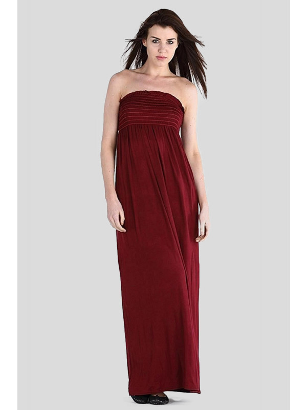 Thalia Strapless Sheering Boob Tube Maxi Dress 8-14
