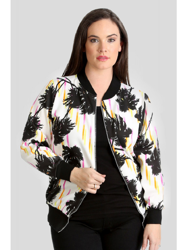 Elyse Black Tropical Bomber Black Tropical 14-16