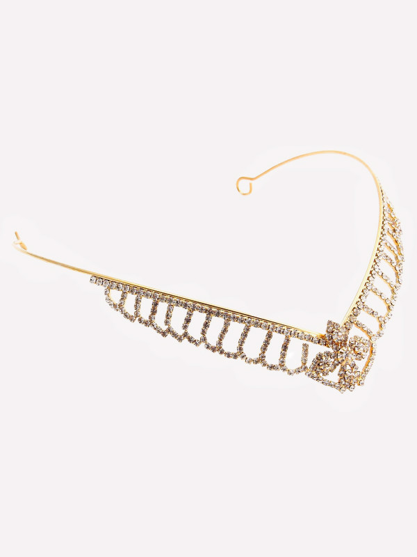 Erin Gold Flower Crystal Tiara Headbands