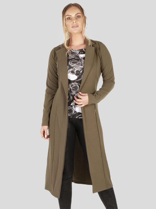 Eva Lightweight Modest Waterfall Coat Cardigan 8-14