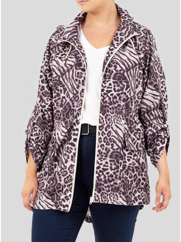 Eva Safari Printed Mac Raincoats 8-16