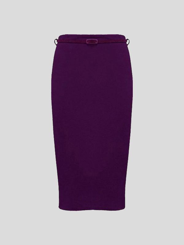 SASKIA Plus Size Bodycon Midi Belted Pencil Skirts 16-26