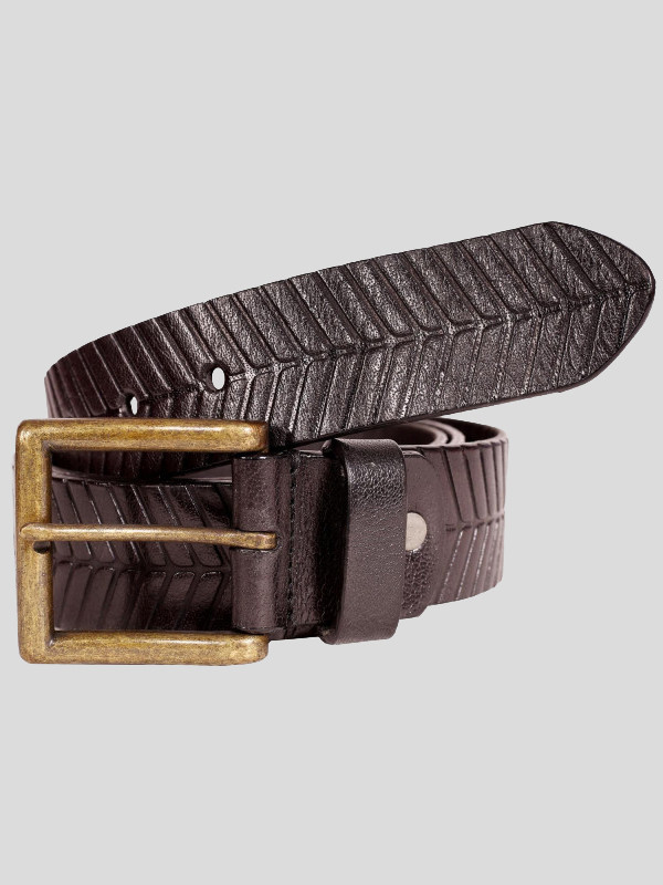 Frederick Mens Textured Genuine leather Belts S-3XL