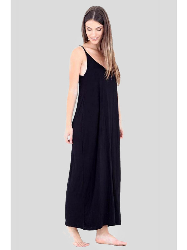 Hannah Plus Size Camisole Strappy Lagenlook Drape Maxi Dress 16-26