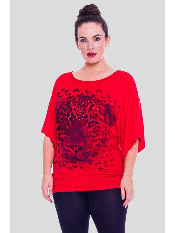 Isobel Plus Size Tiger Print Tops 16-28