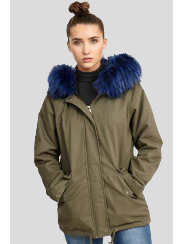 Milana Plus Size Faux Fur Hooded Jackets Coats 16-24