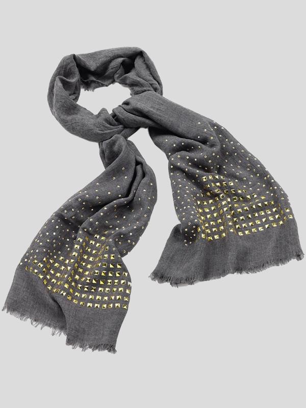 Jasmine Gold Studs Details Fashion Scarf