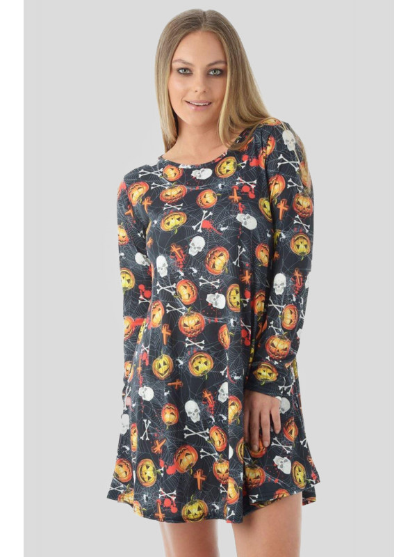 MARTA Halloween Skull Pumpkin Dress 8-14