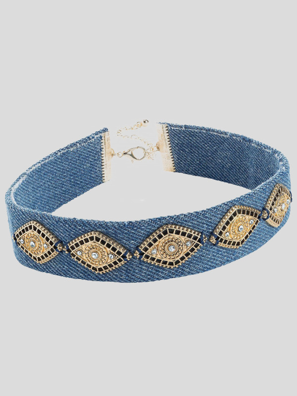 Jessamy Diamond Shape Choker Necklace