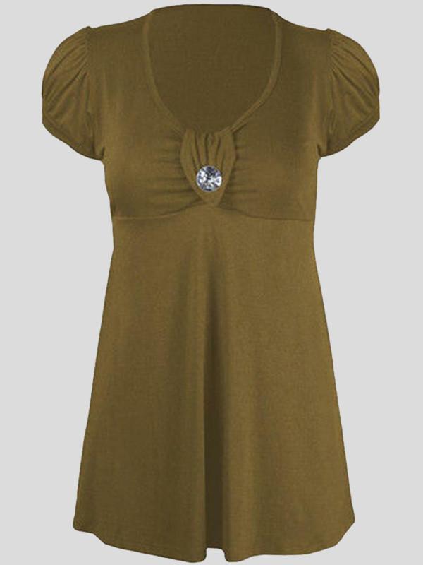 Lavya Cap Sleeve Diamond Brooch Tie Back Mini Dress 14-16