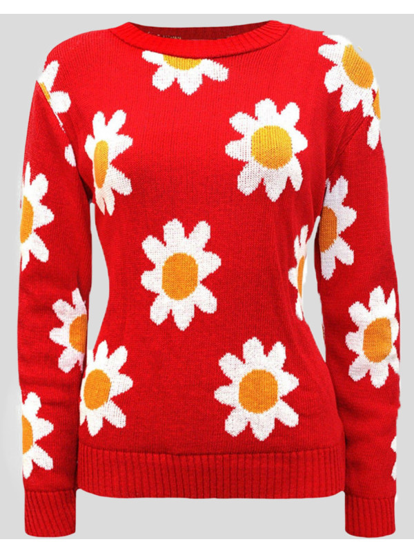 Patricia Flower Print Knitted Jumper 8-14