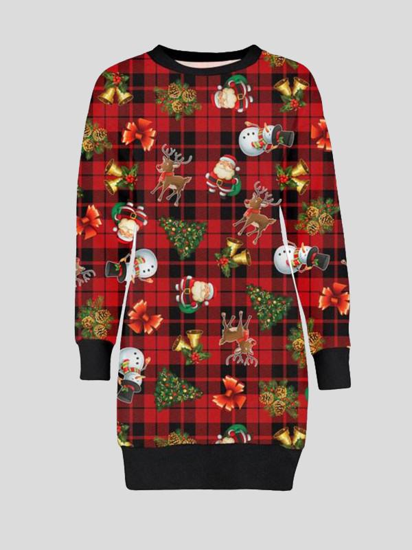 Lacey Tartan Reindeer Print Jumpers 8-14