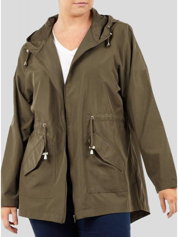 Layla Flutterby Khaki Printed Mac Raincoats 8-16