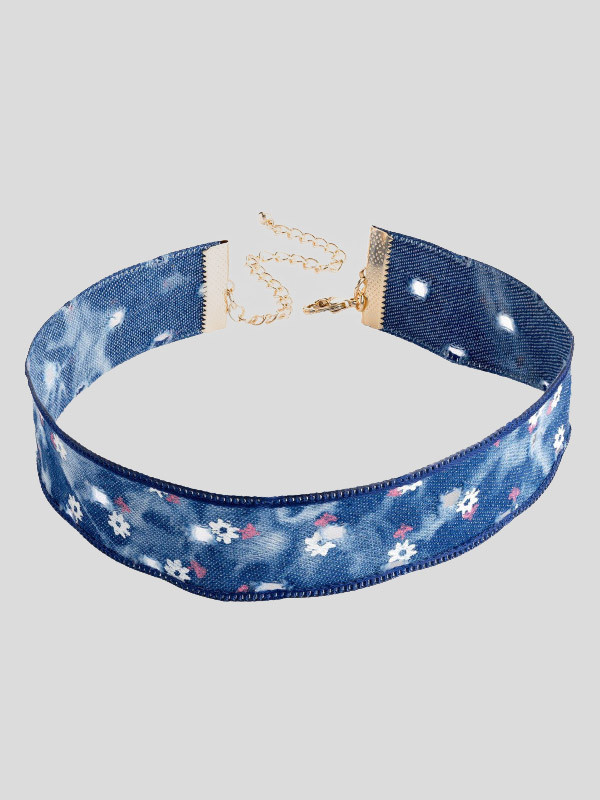 Libby Flower Design Choker Necklace