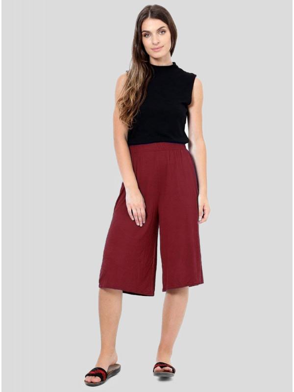 Lora Plus Size Waist Stretch Mini Culottes Shorts 16-26