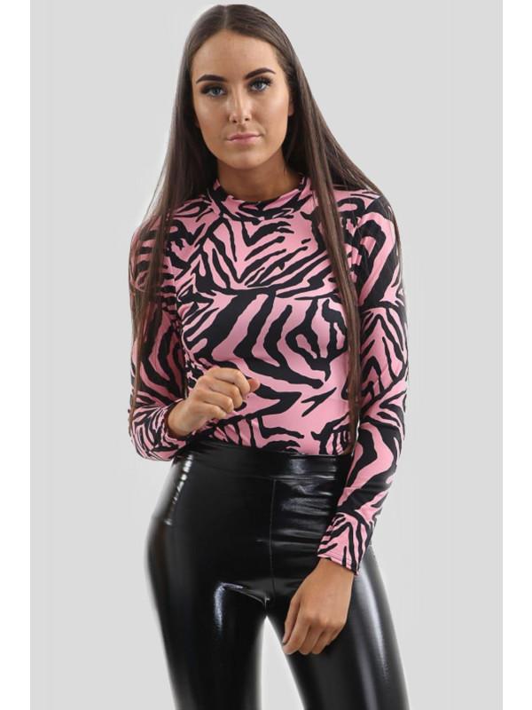 Lyla Neon Color Tiger Print Leotard Bodysuit 6-12