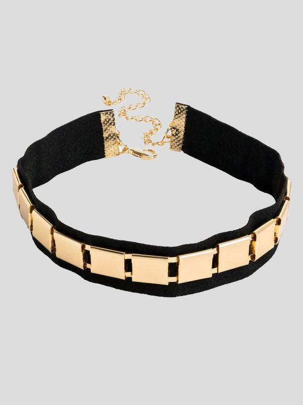 Lydia Metal Design Choker Necklace
