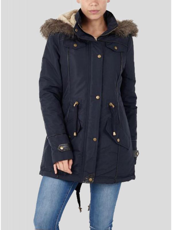 Madeleine Polyester Taslan Faux Jacket Coat 8-16