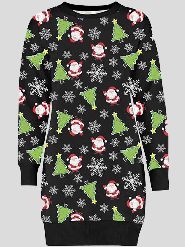 Manha Plus Size Waving Santa Xmas Jumper 16-22