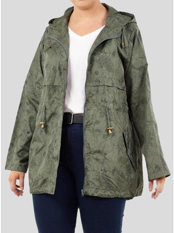 Maria Tip Top Floral Khaki Printed Raincoats 8-16