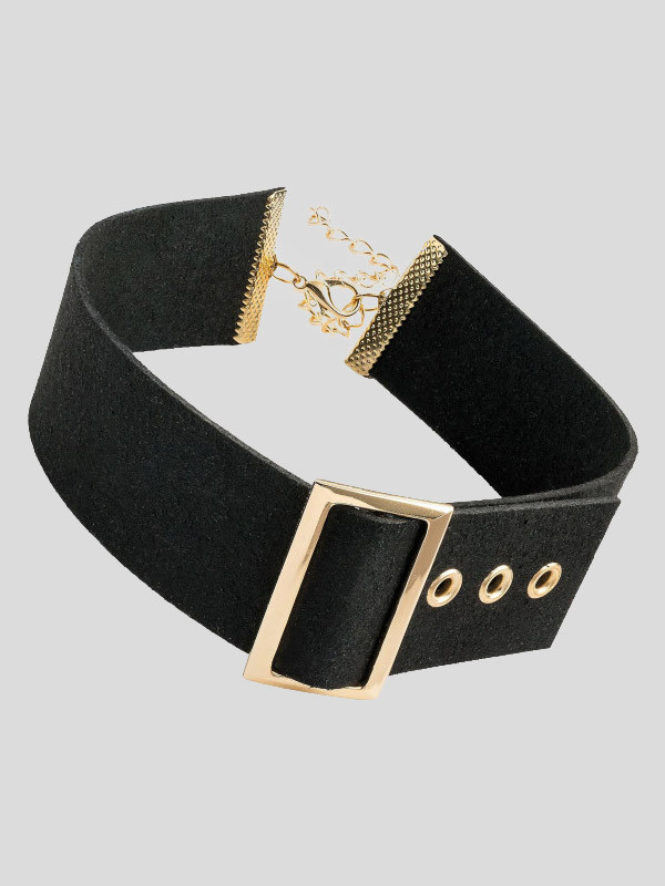 Matilda Buckle Design Choker Necklace