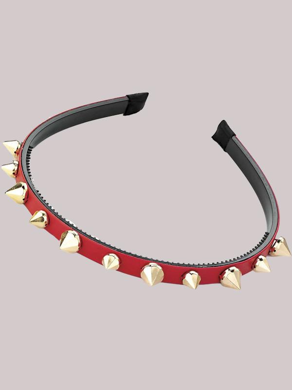 Myra Ladies Stud Design 1cm Wide Headband Hair Accessories