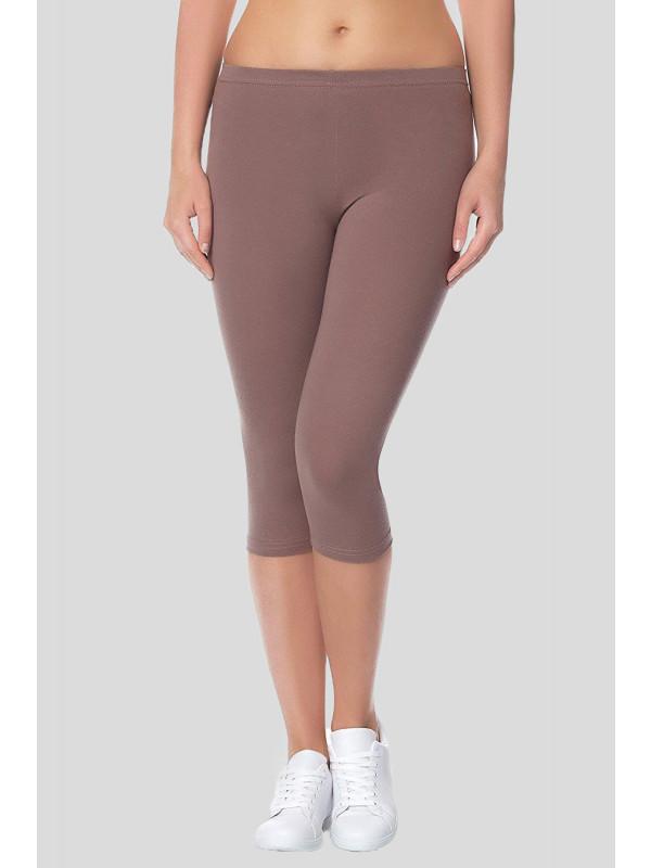 KLARA Stretchy Plain 3/4 Under Knee Leggings 12-14