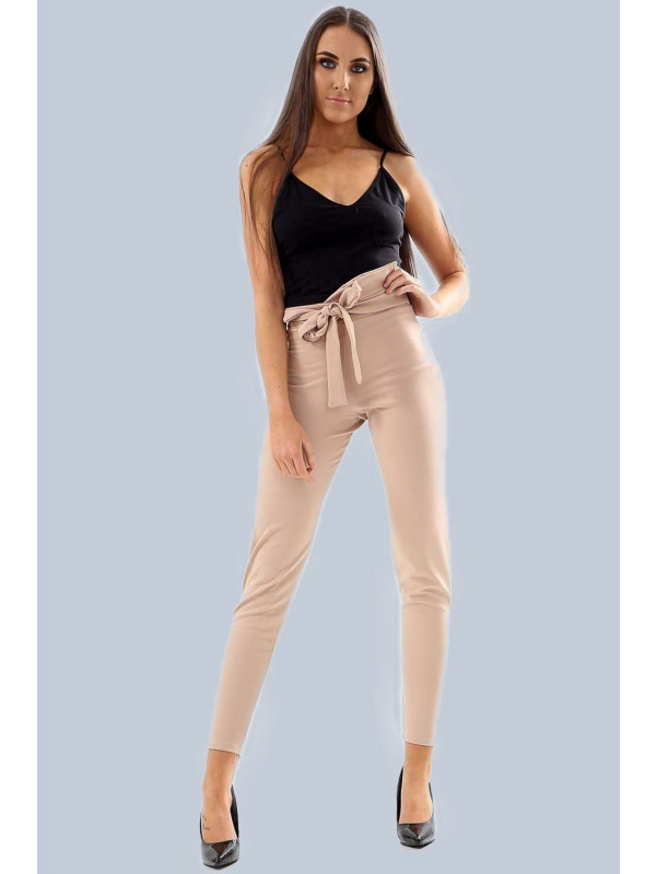Orla High Waisted Belted Capri Stretch Chino Pants 6-12